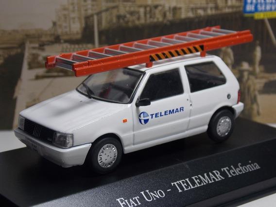 Miniatura Fiat Uno Telemar Telefonia 1/43 Raro
