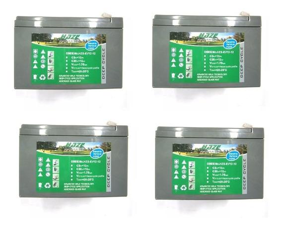4 Bateria Haze 12v 12ah Chilwee 6-dzm-12 Bicicleta Elétrica