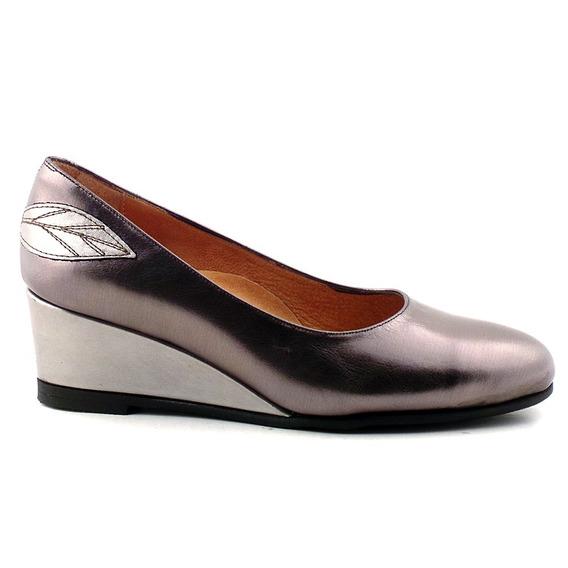 Zapato Mujer Cuero Briganti Taco Chino - Mccz03420
