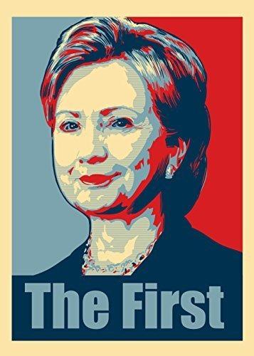 Diseño Del Estilo Del Cartel Político De Hillary Clinton