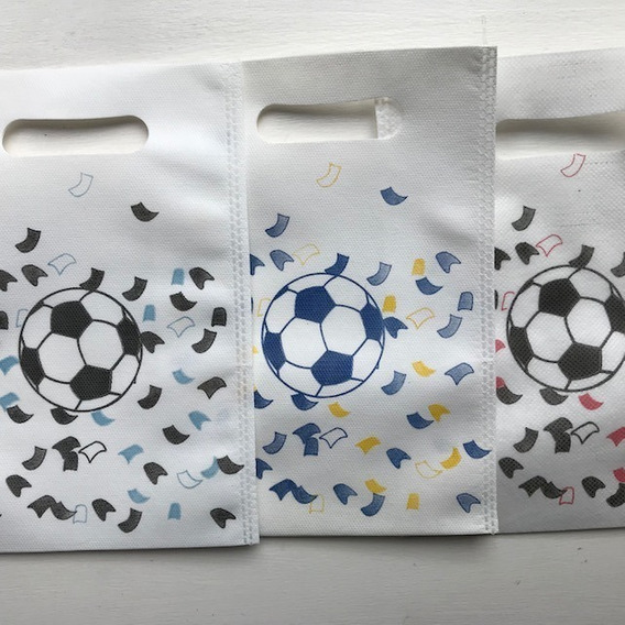 Bolsitas Fútbol Para Cotillón, Souvenir Pack De 10 Unidades