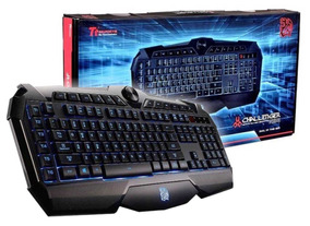 Teclado Gamer Thermaltake Challenger Prime Abnt2 Led 3 Cores