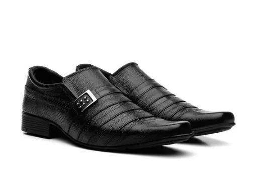 Sapato Social Masculino Em Couro Com Carteira De Brinde