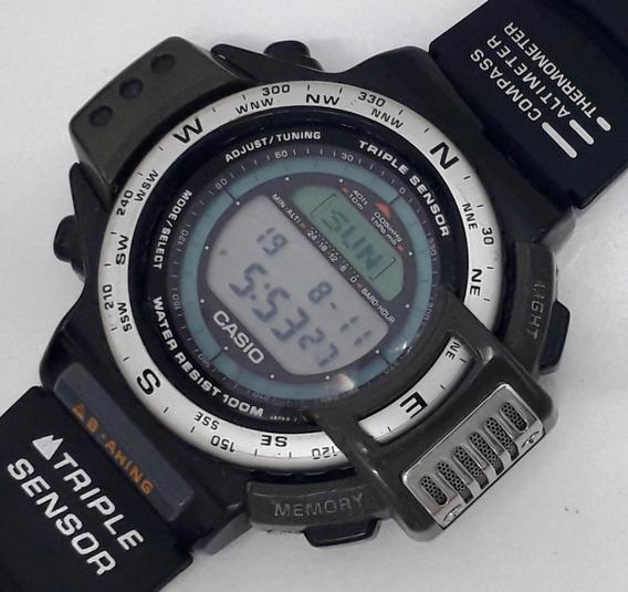 Casio Protrek Atc-1100 Compass Barometer Temperatura Anos 90