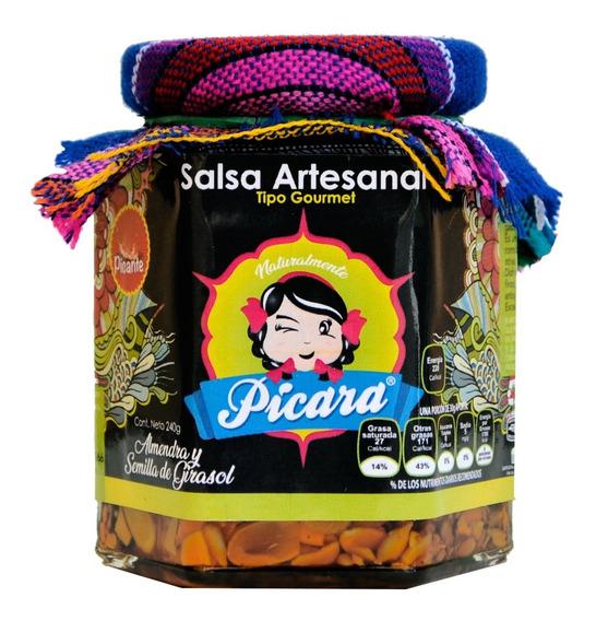 Salsa Artesanal Gourmet Almendra Y Semilla Girasol Picante