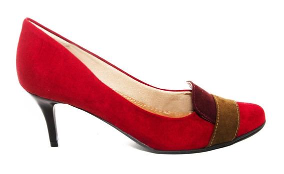Salto Médio Camurça Suede Jambo - Bistrô Shoes