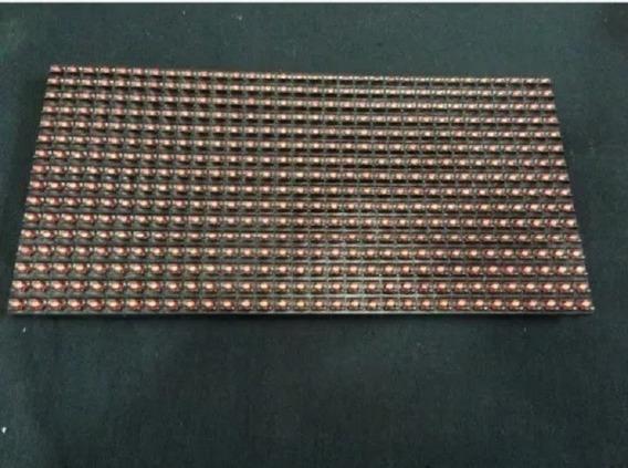 Placa Led Vermelha - Indor - 32 X 16 Cm - P10 - 10 Unidades