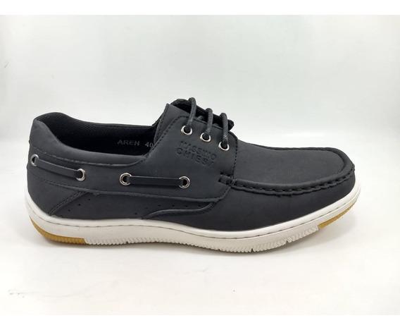 Massimo Chiesa Hombre Zapato Nautico Moda Modelo Aren 2020