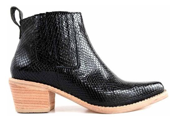 Botas Mujer Cuero Botinetas Zapato Briganti Vestir Mcbo24922