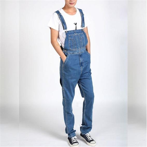 Macacão Jeans Sport Masculino Lançamento Homens Plus Size
