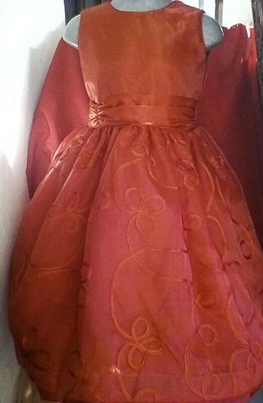 Vestido Presentación Rojo Fiesta Niña