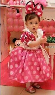 Vestido Tal Mãe Tal Filha Minie Rosa/ Vermelha