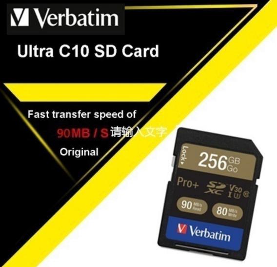 Sdhc Verbatim 256gb U3 4k 90mb/s - Fotógrafo Profissional