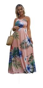 Roupas Femininas Vestido Longo Estampado Florido C/ Bojo 703