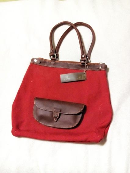 Cartera Bolso Rojo El Casco Con Etiqueta