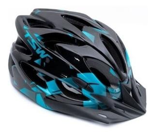 Capacete Tsw Raptor C/ Sinalizador Led Ciclismo Bike Mtb G