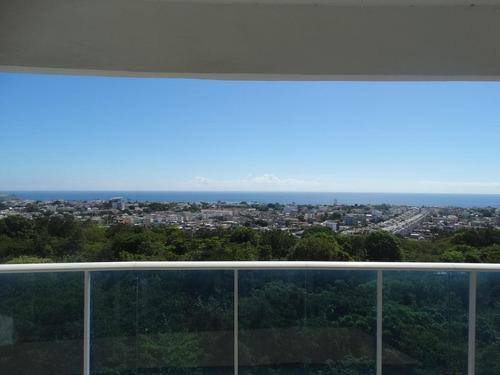 Apartamento En Venta En Los Cacicazgos 3 Hab, Vista Al Mar
