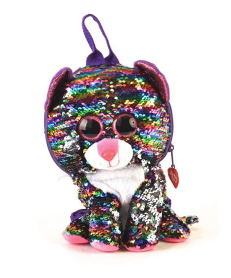 Bolso Ty Animales Lentejuelas Gato Multicolor 10