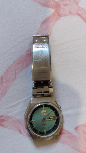 Relógio Orient Automático Azul Sem Vidro  (pra Conserto)