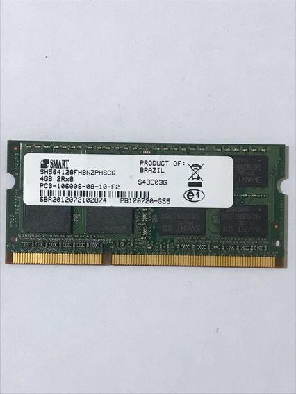Memória Notebook Pc3 10600s 1333mhz 4gb 2rx8 Smart