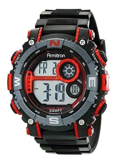 Relojes Hombre Armitron 40/8284 Rojo Y Negro