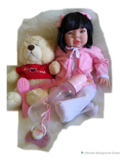 Boneca Barata Bebe Menina Verdade Tipo Reborn 15 Itens