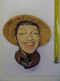 Escultura Rosto Caras Nacionalidades Gesso Anos 70 Raridades