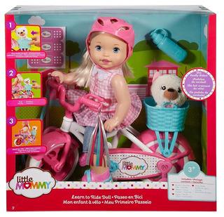 Muñeca Little Mommy Paseo En Bici Bicicleta Envío Gratis