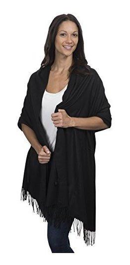 Cashmere & Class - Bufanda De Cachemira Para Mujer, Tamaño