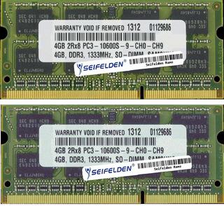 Portatil Seifelden 8gb (2x4gb) Memoria Ram Para Apple Macbo