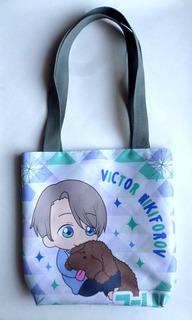 Mini Tote Bag Cartera De Anime Yuri On Ice Victor