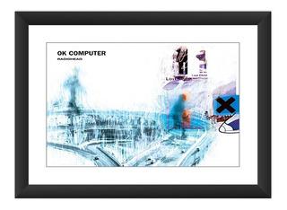 Quadro Radiohead Ok Computer Album Poster Art Decoracao Rock