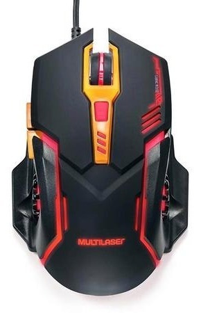 Mouse Gamer Warrior 2400dpi Multilaser Mo270