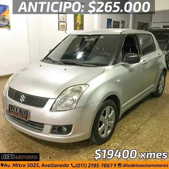 Suzuki Swift 1.5 2009 Anticipo/financiacion/permuta