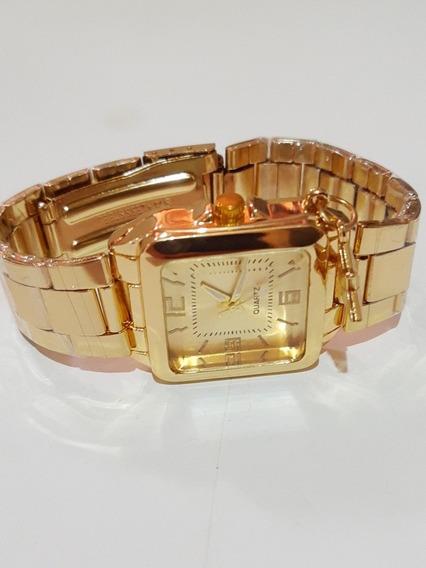 Relógio Dorado Feminino Com Detalhes De Brilhantes