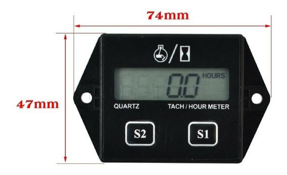 Tacômetro Horímetro Digital Motores A Gasolina Carro Moto