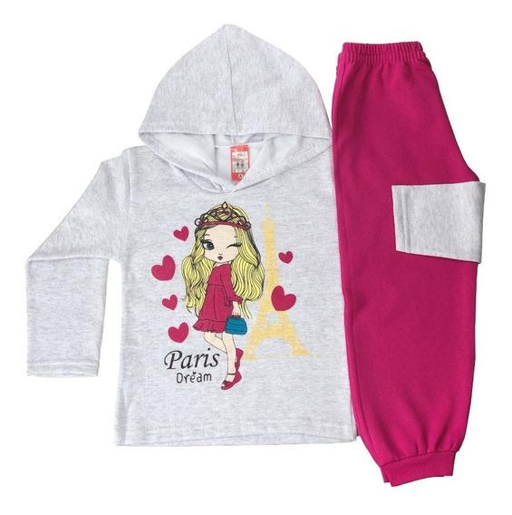 Kit 6 Conjunto Moletom Infantil Menina-menina Atacado 4/6/8