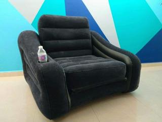 Sillon Sofa Cama Individual Inflable Con Terciopelo