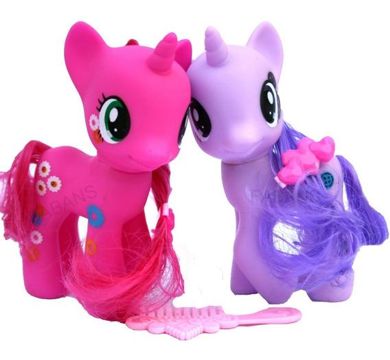 2 Pony Pinkie Twilight Juguete Unicornio Equestria Niña