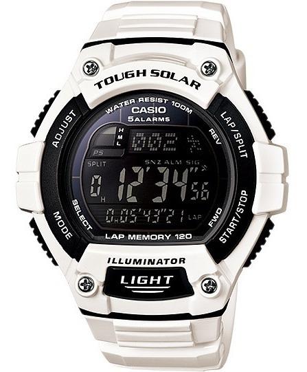 Relógio Casio W-s220 C-7b Solar 5 Alarmes Cronometro Wr100 B