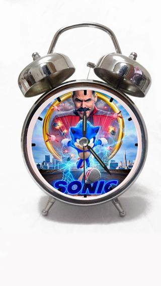 Despertador Sonic La Película 2020 Personalizado Reloj