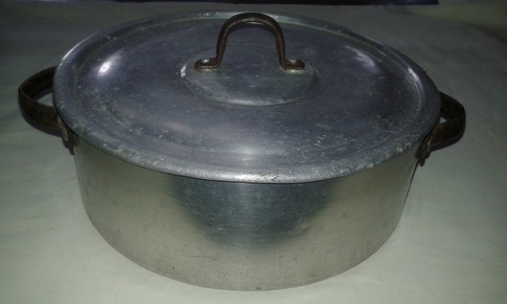 Cacerola Aluminio Asa Charol 22 Cm Diam. X 8 Alto Impecable!