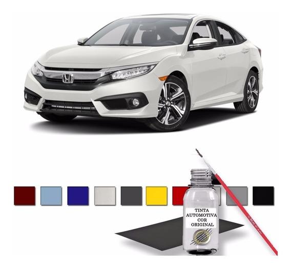 Reparador Automotivo Retoque Honda Civic 2017 Branco Estelar