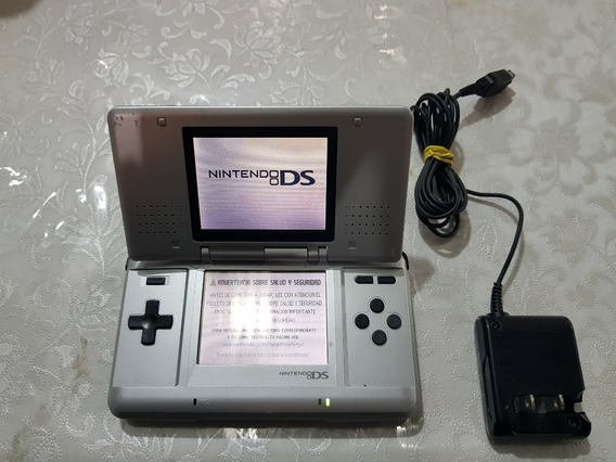 Nintendo Ds Fat Consola Plata Mas Cargador Funcionando Perfe