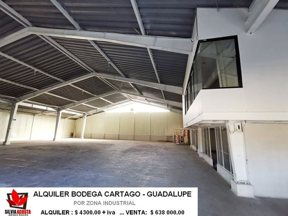 Alquiler O Venta Bodega En Cartago Guadalupe Cerca Parque