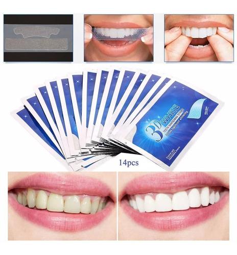 3d White Blanqueador Dental Tiras X 14 Láminas 7 Sobres