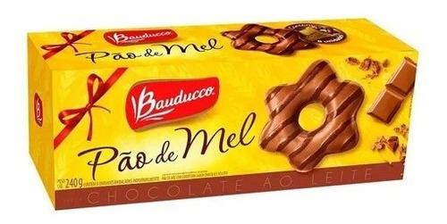 Imagem 1 de 1 de Pão De Mel Com Cobertura De Chocolate Bauducco 240g