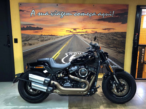 Harley Davidson Fat Bob 2019 Preta Com 2.000km