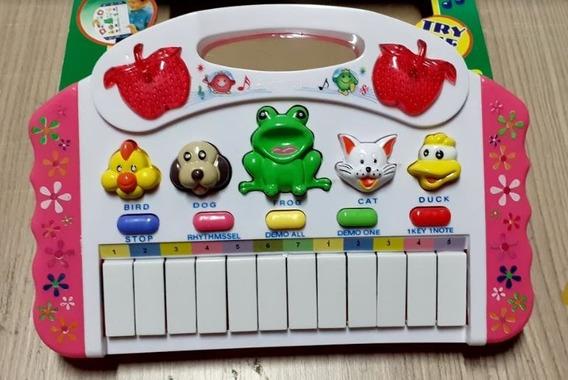 Piano Infantil Teclado Para Bebe E Criança Com Som Dos Bich