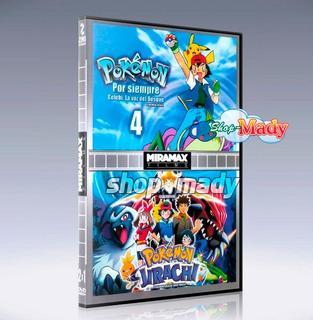 Pokemon 4 Por Siempre Y Pokemón Jirachi 2 Peliculas 1 Dvd
